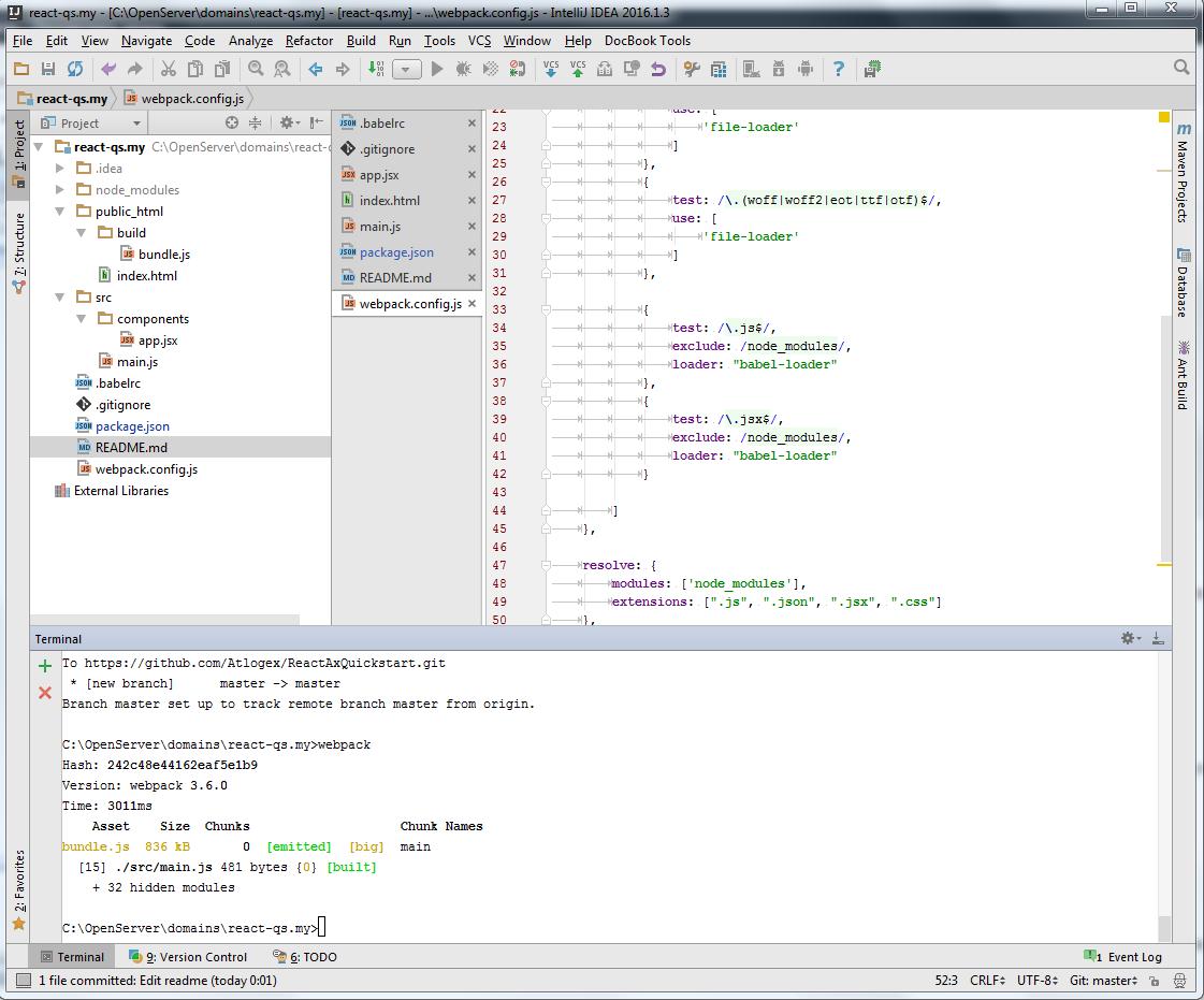 Run React app use NPM, Babel and Webpack 3 – Atlogex Blog