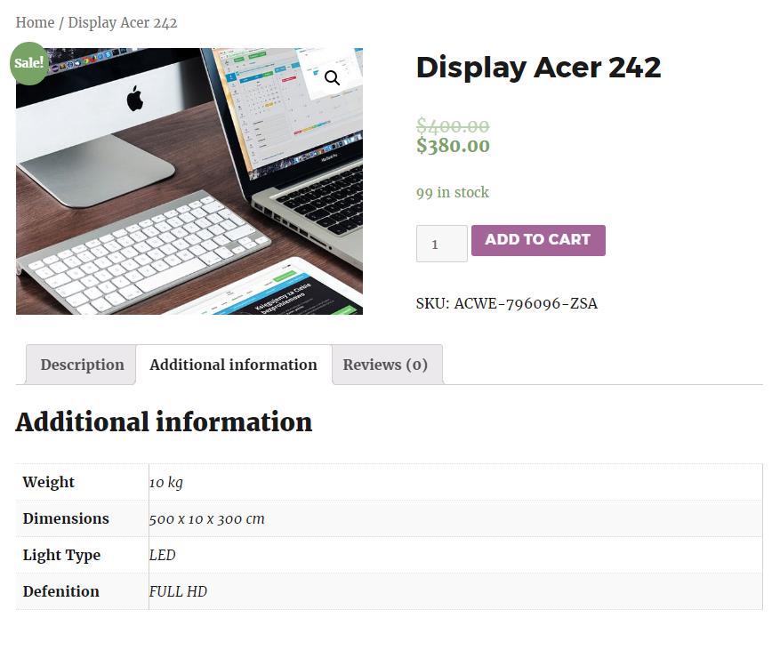 WP + WooCommerce - goods attributes - Atlogex Blog